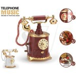 جعبه جواهرات موزیکال کوکی به شکل تلفن کلاسیک استوانه ای مدل 6059