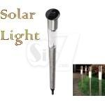 چراغ خورشیدی تزئینی نیزه ای مدل 157 طرح میله استوانه ای بدنه استیل