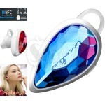 ENZATEC ZBT104 fashion luxury Sapphire Love in ear Bluetooth wireless headset ear bud headphone with Mic