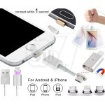کابل شارژ یو اس بی مغناطیسی دارای سری آهنربایی و سوکت های مختلف برای انواع گوشی موبایلها