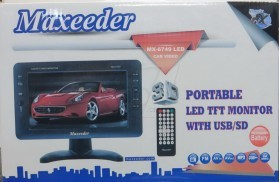 Maxeeder Portable 9 inch LED Monitor T MX-6749 LED