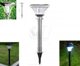 چراغ خورشیدی باغچه ای 9 لامپی 74 سانتیمتری بدنه فلزی پلاستیکی مدل 907