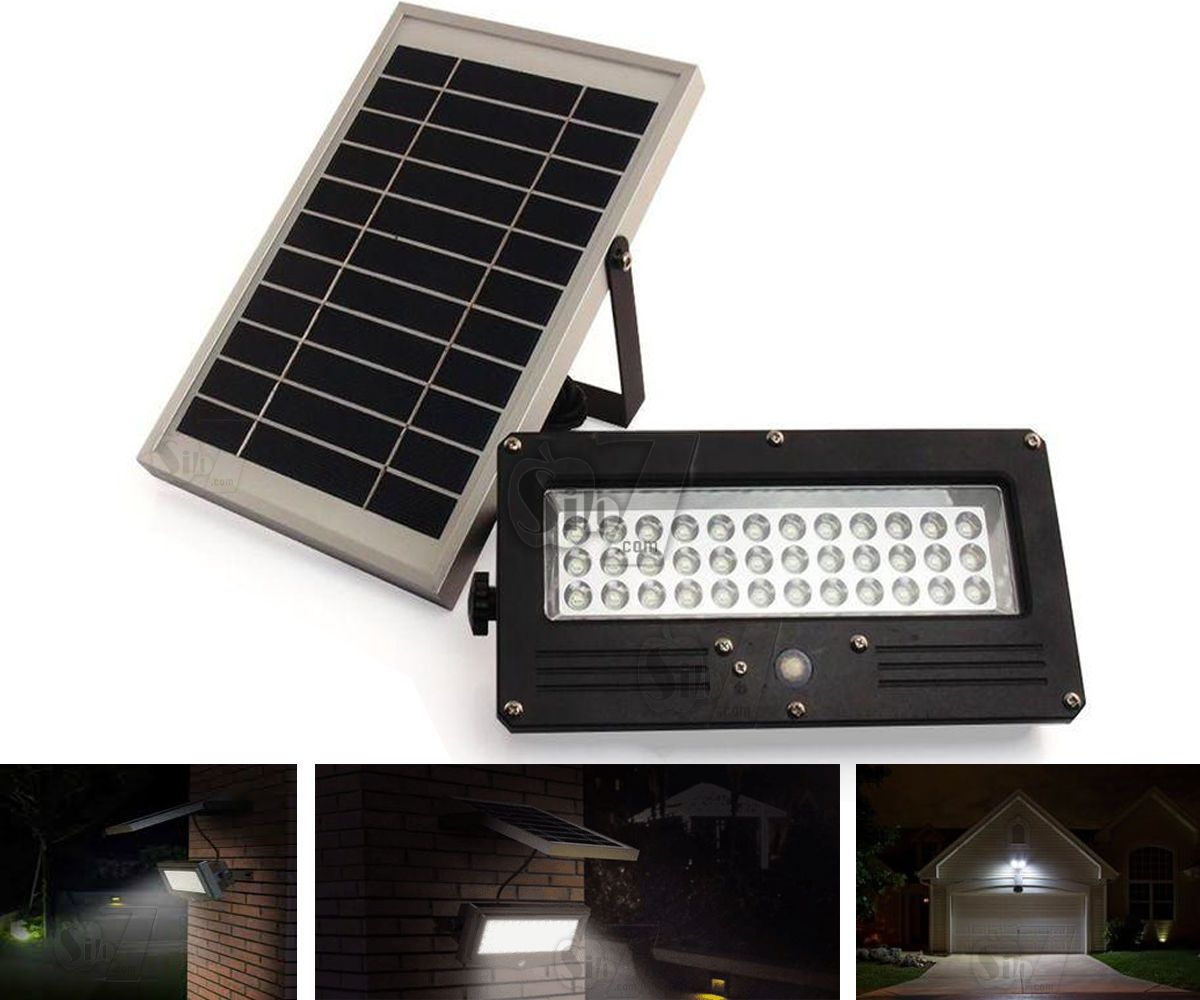 05 Solar Pir Motion Sensor 36 Led Wall Light