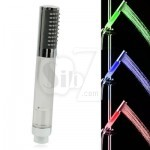 Temperature Detectable 3-Color (Green / Blue / Red) LED Shower Head, No Battery