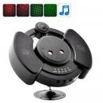 لیزر رقص نور با قابلیت پخش موسیقی دارای ریموت کنترل و حافظه داخلی 1 گیگابایتی