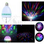 3W E27 Crystal Magic Ball Rotating Full Color RGB LED Stage Lighting Bulb for Disco DJ Bar Party