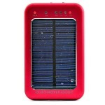 پاور بانک و شارژر خورشیدی 2600 میلی آمپر چراغ قوه دار