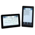 تبلت قرآنی 7 اینچی، دارای سیستم عامل آندروید و اینترنت بیسیم به همراه کیف چرمی