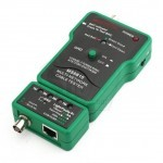 MS6810 (10-200) Mastech Network Cable Tester, RJ-45 10Base-T T568A T568B Coaxial BNC
