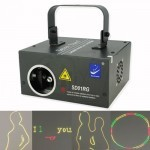 Seven Star - SD01RG Text and Animation Stage Lighting Projector Stage Laser Light Support TF card