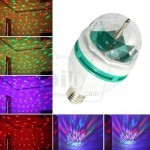 3 Colors LED Full Color Rotating Lamp Stage Light with Screw Cap Lamp stand
