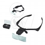 Hands free Sunglasses Shape Magnifier and Magnifying Glasses 9892B with LED Lamp