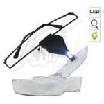 ذره بین عینکی چراغدار 3 لنز مدل 3-9157