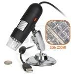 میکروسکوپ یو اس بی دیجیتالی 200ایکس با قابلیت اتصال به کامپیوتر