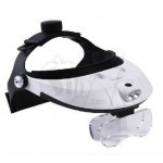 MG81001-H 2way 2 LED Light  HEAD BAND MAGNIFYING and GLASS MAGNIFIER Head cap