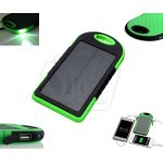 5000 mAh waterproof Solar Power Bank Charger for USB Rechargeable Devices