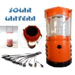 6 LED 978 Rechargeable Solar Camping Lantern light with USB output charger