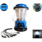 8 LED GSH-T6055A Rechargeable Solar Camping Lantern light with USB output charger