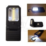 Powerful Magnetic 3W COB + 0.5W LED Work light Flashlight With Hook And Double Magnet