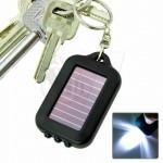 3 LED Solar powered flashlight keychain