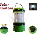KT602 Rechargeable Solar Camping Lantern 6 LED light with USB output charger