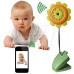 دوربین مراقبت بچه بیسیم وای فای مدل ماکروسی طرح گل آفتابگردان