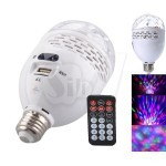 SK42A E27 RGB 5W LED Stage Light  Bulb with USB/TF Music Player  Speaker and FM Radio , Remote Control
