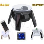 Crab shaped Battery or Solar Powered Showcase Display Rotation Stage and Stand