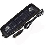 Sunergy 4.5W 300mA Solar Panel Charger with 12V and USB 5V Output for Car Battery and Mobile or other Rechargeable Device