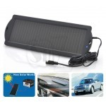 TOPRAY 1.5W 125mA 12Volt Weatherproof Solar Trickle Car Battery Charger with Alligator Clips