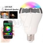 لامپ رنگارنگ و اسپیکر بلوتوثی هوشمند مدل بی تی6 با قابلیت تغییر رنگ توسط اپلیکیشن موبایلی