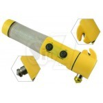 Multifunctional 4 in 1 rescue and safety Car Hammer + Flashlight+ Warning lights + Belt cutter and knife