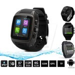 X01 Waterproof GSM smart watch phone with android 4.4.2, WIFI, GPS, Bluetooth, dual core, Rom 4GB, 2.0MP Camera Wrist watch