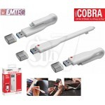 EMTEC iCobra2 Apple OTG Dual-Interface USB 3.0 Flash Drive external USB Flash Memory for iPhone, iPad, iPod with Lightning port