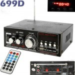 AK-699D USB SD FM MP3 Hi-Fi Stereo Audio Power Amplifiers With Remote Control