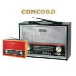 CONCORD RF-904U Wooden Classic 4Band Radio and USB SD MP3Player