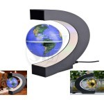 C shape World Map Decoration Magnetic Levitation Floating Globe with LED Light