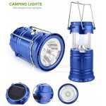 SH-5800 Solar Rechargeable Camping Lantern and Flashlight with 6+1 LED lamp + USB output Power