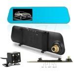 آینه مانیتوردار 4.3 اینچی دارای 2 دوربین، دنده عقب دید در شب و دوربین فیلمبرداری اچ دی