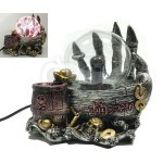 Halloween Decor Touch Effect Evil Dragon Claw Plasma Glass Magic Ball Globe Light Glowing Lamp