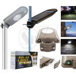 Solar Street Light with Lithium Battery, PIR Motion Sensor & Dimmable LED