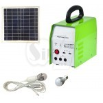 Solar LED Light System Kit with 10W Panel & 2x LED Globes & USB Charge Outlet