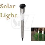 157 White LED Stainless Steel Solar Bollard Light
