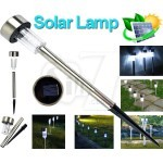 156 Solar Powered Rechargeable Waterproof LED Lawn Garden Light Lamp