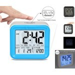 Large Number LCD Digital Alarm Clock With 3 Sets Alarm Clock And Light Activated Night Light, Time, Date, Temperature Display