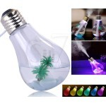 USB Colorful 400ml Bulb Shape Air Humidifier Diffuser with colorful Night Light