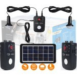 SL1 Portable Solar Lighting Solution Power Pack with Solar Panel, 2 LED Bulb and 2 USB Power bank Output