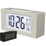 ساعت دیجیتالی رومیزی طرح کاسیو مدل 016 دارای سنسور تاریکی و نمایش زمان آلارم، تقویم میلادی و دمای محیط، دکمه فشاری