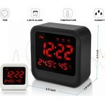 032 Digital Alarm Clock with 3 Sets Alarm, Time, Temperature, Humidity Display, Large Screen Display
