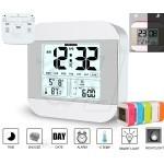 050 Talking Digital Alarm Clock with Smart Light Sensor, Backlight, Temperature, Natural Music Tones and Date